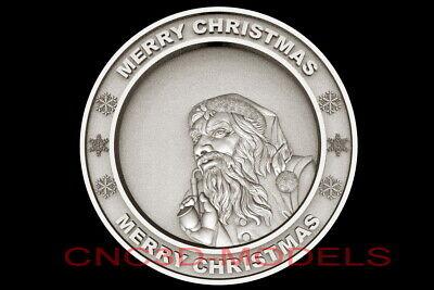 3d Model Stl For Cnc Router Artcam Aspire Merry Christmas Santa Claus D695