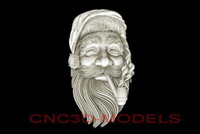 3d Model Stl For Cnc Router Artcam Aspire Merry Christmas Santa Claus D682