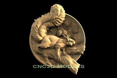 3d Model Stl For Cnc Router Engraver Carving Artcam Aspire Animal Squirrel F635
