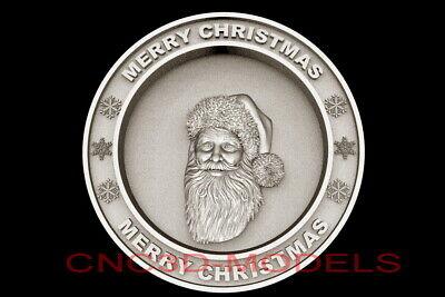 3d Model Stl For Cnc Router Artcam Aspire Merry Christmas Santa Claus D704