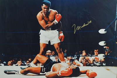 Muhammad Ali Vs  Sonny Liston Signed Boxing Sport Photo Poster Print 24X36