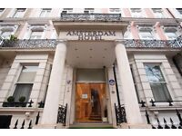 Full time Chambermaid required for 3* hotel in Earls Court (Central London)