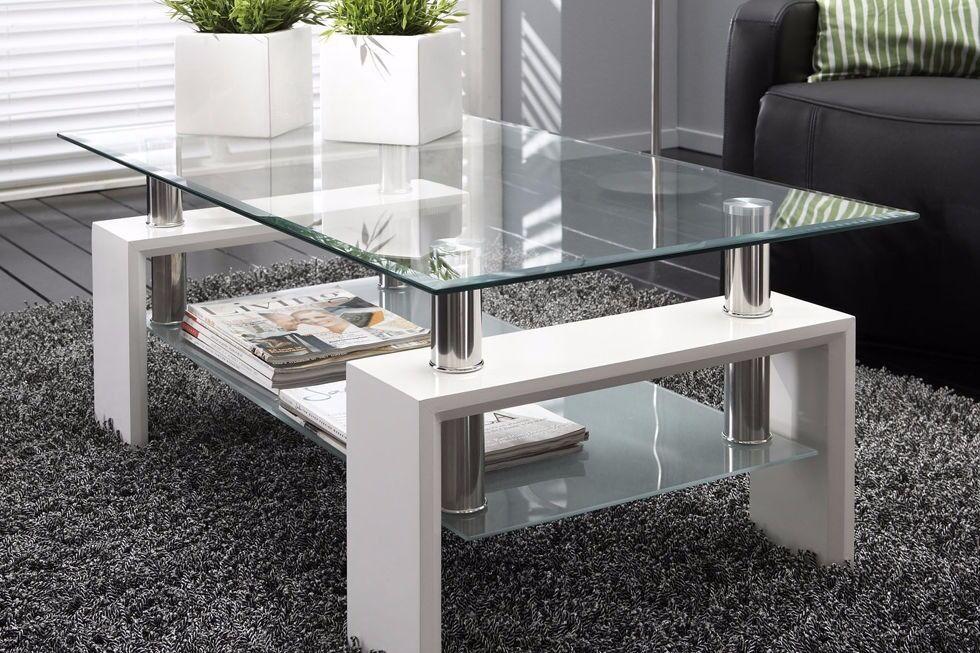 White Modern Rectangle Glass amp Chrome Living Room Coffee  : 86 from www.gumtree.com size 980 x 653 jpeg 140kB