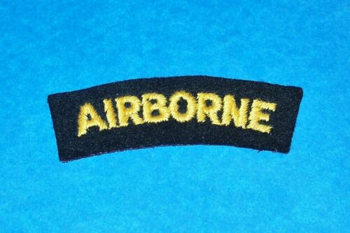 ORIGINAL CUT-EDGE FELT WW2 BRIT MADE AIRBORNE PARATROOPER PATCH TAB!