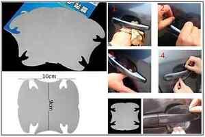 4 transparent adh sif voiture poign e porti re peinture pour rayure protection ebay. Black Bedroom Furniture Sets. Home Design Ideas