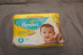 Pampers Premium Protection size 2, 68 nappies in bag FOR SALE