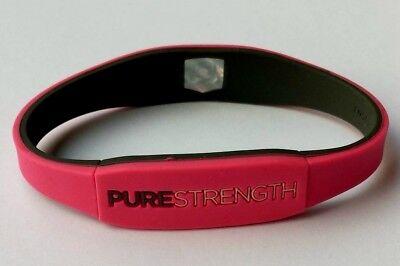 Sport Power Balance Armband mit einem Hologramm Pink - Grau Gr.M ( 19,0 cm)