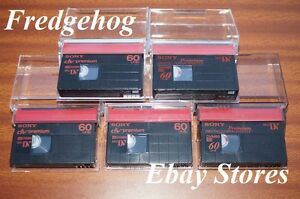 SONY-MINI-DV-CAMCORDER-TAPES-CASSETTES-PREMIUM-QUALITY-PACK-OF-5