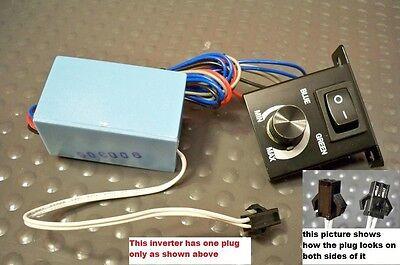 Universal 12 Volt 1 Plug El White Face Glow Gauges Power Inverter Green Blue