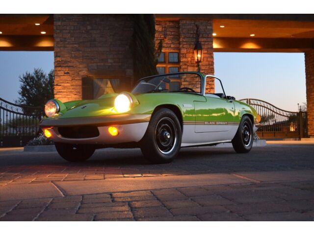 Lotus : Other Elan Sprint 1972 Lotus Elan Sprint Blue Plate CA car Nicely Restored Eexcellent mechanicals