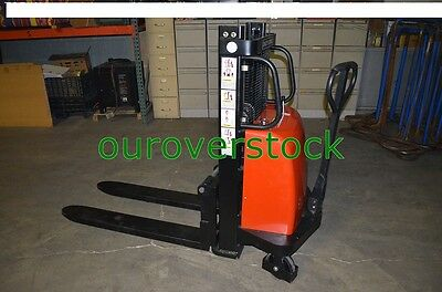 Electric Lift Manual Push Stacker 2200 Lb 36 Lift Height