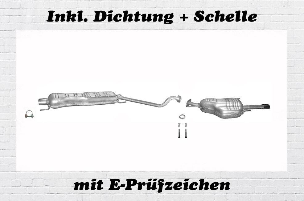 Montagesatz Opel Astra G Coupe Cabrio 1.6 1.8 2.2 Endschalldämpfer Auspuff