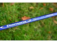 Titleist Diamana 62 Regular Flex Blueboard Driver Shaft (Mitsubishi Rayon) 910 913 915