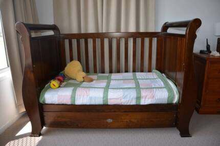 Boori Sleigh Cot/ Toddler bed with draw (optional mattress). Boonah Ipswich South Preview