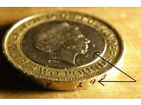 Rare Abolition Of The Slave Trade 1807 2007 Minting Error £2 Two Pound Coin 499£ ONO