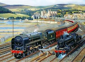 'GATEWAY TO SNOWDONIA' WALES (Steam Train, Railway) Gibsons 1000 Jigsaw Puzzle