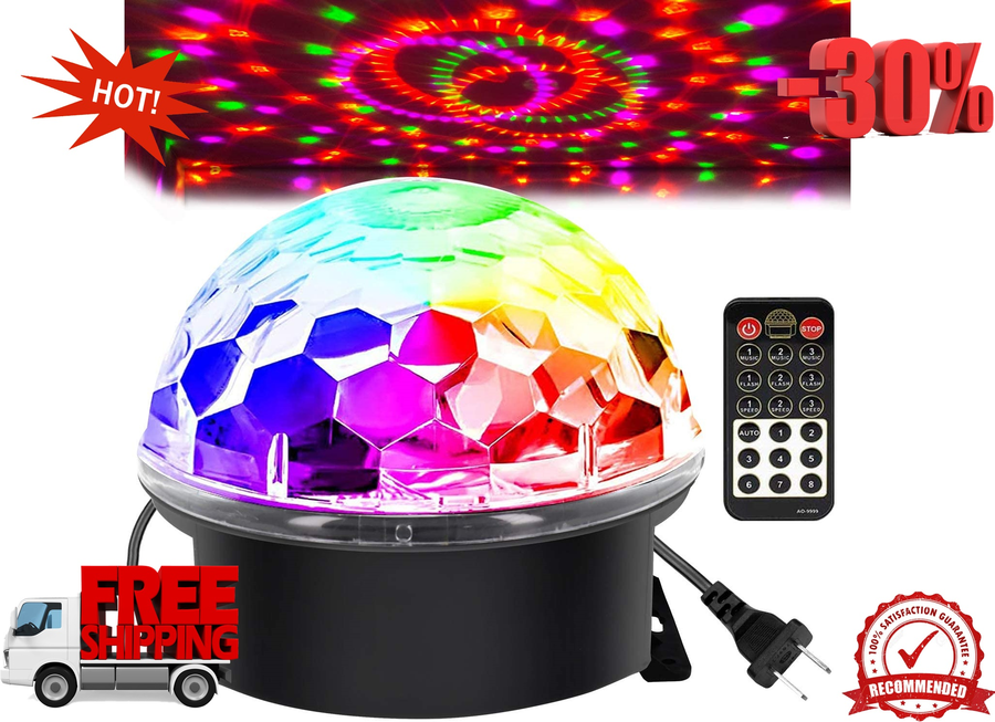 disco ball party lights strobe lamp