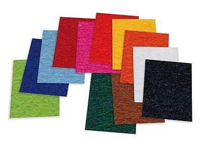 12 Bogen Bastelfilz 20x30cm Filz Polyesterfilz farbig sortiert NEU