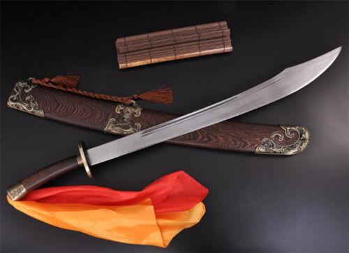 High Quality KungFu Broadsword Dao Sword Sharp Damascus Steel Blade WUSHU DaDao