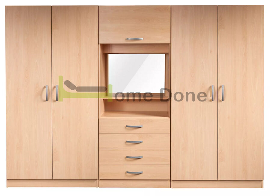 Farren 4 Door Wardrobe with Dressing Table  SAME NEXT DAY DELIVERY   in  Forest Hill  London   Gumtree. 7 DAY MONEY BACK GUARANTEE      Farren 4 Door Wardrobe with