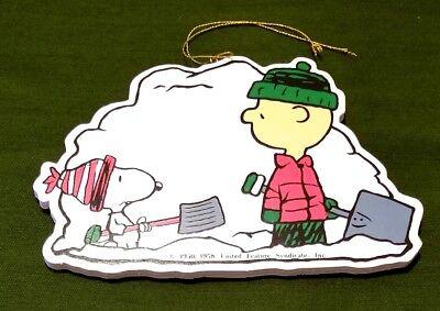 "Flat 6"" Peanuts Snoopy Snow Shovel Ornament Hanger"