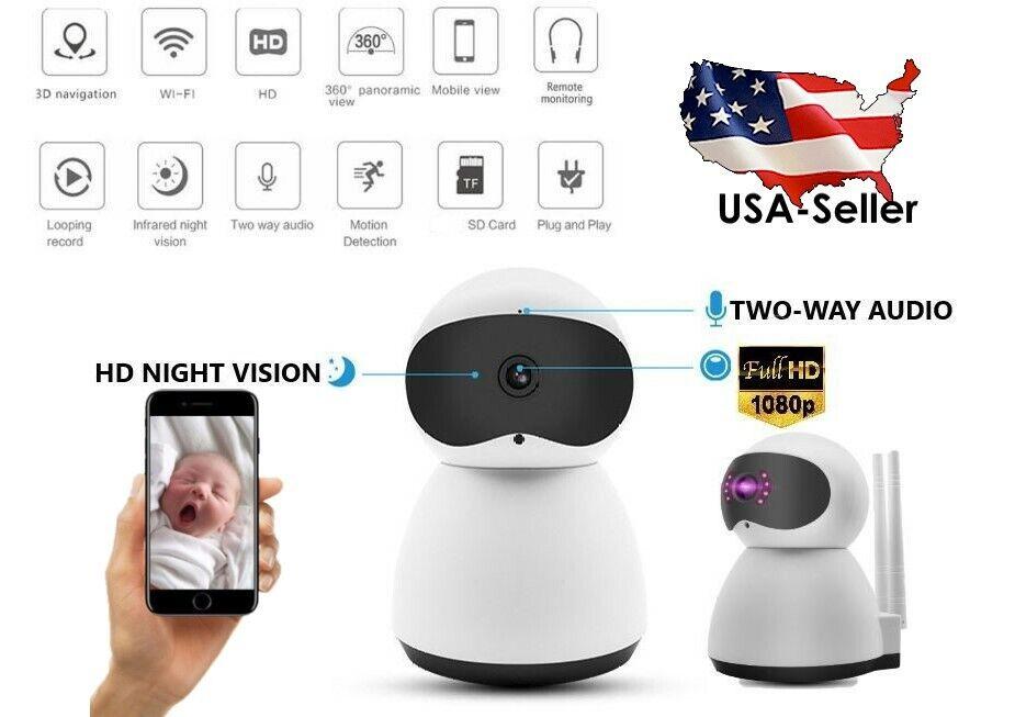 Indoor Wireless Smart Wifi IP Camera 1080P HD Home Business