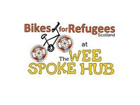 Fixing bikes for refugees in Scotland
