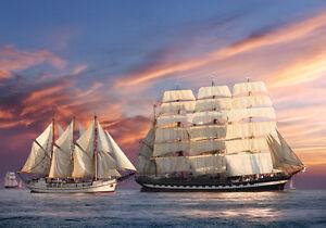 Puzzle Puzzel Sailing Sunset Schiff Schiffe Segelschiff Segelschiffe Ozean 500