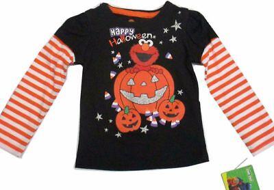 2012 SESAME STREET ELMO Halloween Tshirt L/S Layered Pumpkin 12M-18M-24M-4T-5T ](M Street Halloween)
