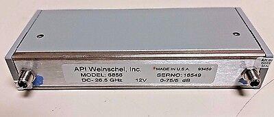 Weinschel Inc Programmable Step Attenuator 6856 26.5 Ghz 5 Db 152t-75