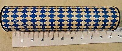 Antique Kaleidoscope Blue & White Diamond Pattern Made in Japan
