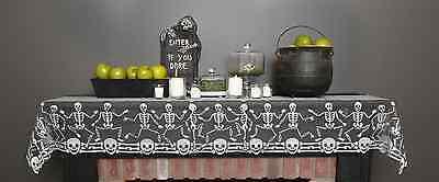 Halloween Skeleton Dance (Skeleton Dance - Mantle Scarf or Table Runner - Heritage Lace - Halloween -)