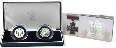 2006 Silver Proof Victoria Cross 50p 2 Coin Set Box COA Royal Mint