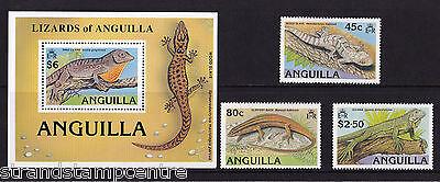 Anguilla - 1989 Lizards - U/M - SG 811-3 + MS814