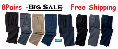 8 Used Work Pants -good Condition - Free Priority Shipping