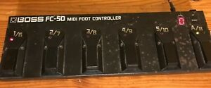 USED BOSS FC-50 FOOT CONTROLLER MIDI INSTRUMENT DEVICE