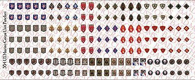 1 18 Scale Decals  Us Marine Corps Usmc Unit Patches   Waterslide Decals
