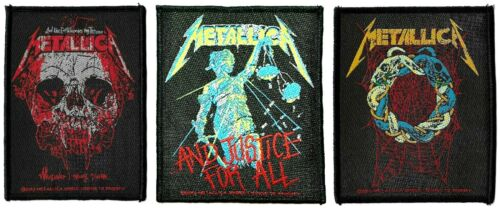 Metallica Tangled Web + Wherever I May Roam + and Justice for All Patches Lot