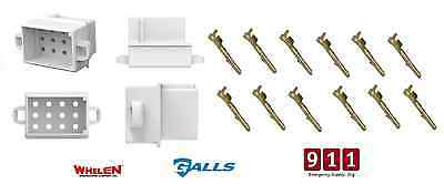 Whelen Galls Traffic Advisor Siren Cencom Power Harness Connector Plug 12 Pin 1