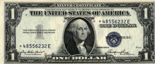 1935-E $1.00 Silver Certificate Star Misalignment Error Note - *48556232E - CU