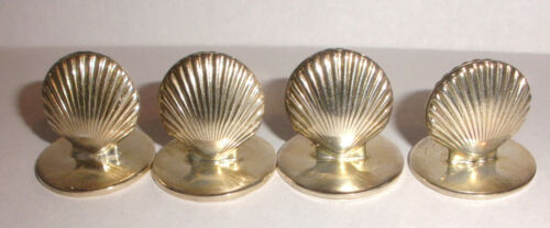 set lot of 4  Vintage Tiffany co shell sterling silver card holder