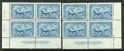 Weeda Canada C8 VF MH pl. 4 blocks CV $16