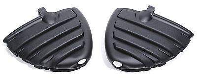 Fußrasten Wing Mini Trittbretter Schwarz für Harley Davidson Dyna Softail Glide