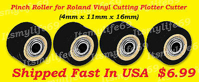 One Pinch Roller Roland Vinyl Plotter Cutter 4mm X 11mm X 16mm Shipped Fastusa