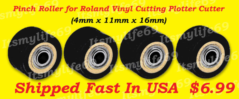 Pinch Rollers for Roland Vinyl Plotter Cutter 1-(4x11x16) US Fast Shipping