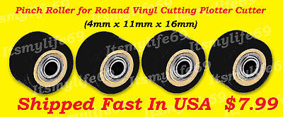 Pinch Rollers For Roland Vinyl Plotter Cutter 1-4x11x16 Us Fast Shipping