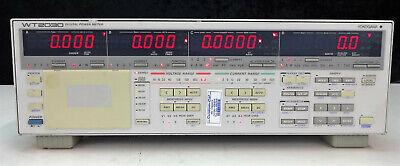 Yokogawa Wt2030 Digital Power Meter Options C2-3-ddaz
