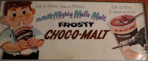 ICE CREAM CHOC-O-MALT  MIGHTY MELLOW MALT EAT IT NOW A SPOON IS HOW