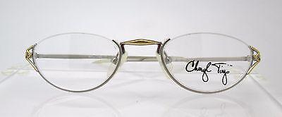 Cheryl Tiegs 136 PL Womens Eyeglass Frames Glasses Half Eye