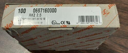 0697160000 WEIDMULLER AKZ2.5 TERMINAL BLOCK 300V , 10A